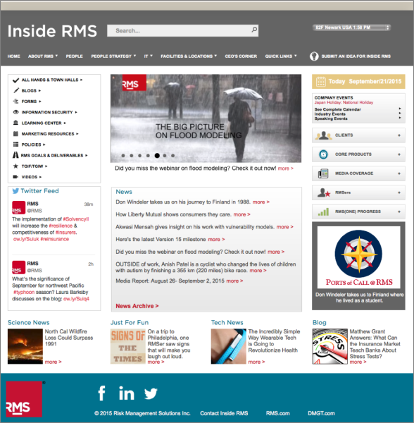 RMS Intranet